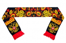 """Шелковый шарф """"Хохлома"""" фото"""