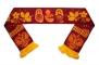 Вязаный шарф с народными узорами