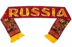 "Шелковый шарф ""Russia"" фото"