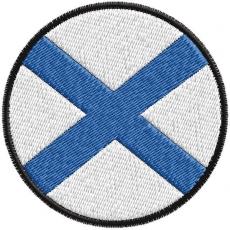 Шеврон Флаг Андреевский фото