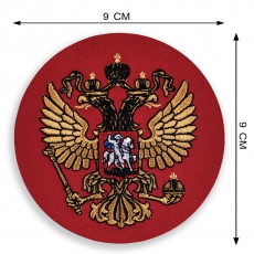 Шеврон Герб РФ красный фото