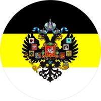 """Стикер """"Имперский флаг с гербом"""""""