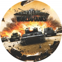 "Наклейка ""World of Tanks"""