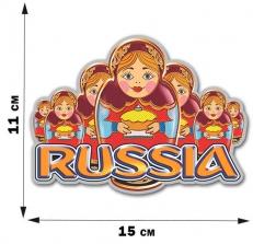 "Наклейка ""Матрёшки Russia"" фото"
