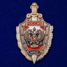 Жетон металлический «МВД России» фото