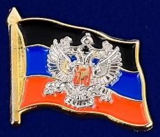Латунный значок с гербом ДНР фото