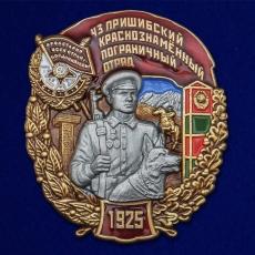 """Знак """"43 Пришибский Краснознамённый Пограничный отряд"""" фото"""
