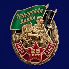 """Знак """"Чеченская война. 25 лет."""" фото"""